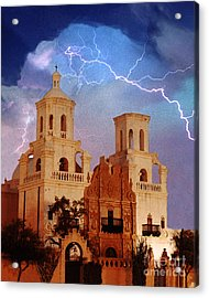 San Xavier Acrylic Print by Jeanette Brown