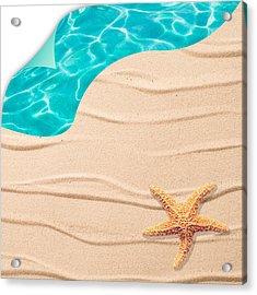 Sand Background Acrylic Print by Amanda Elwell