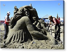 Sand Sculpture 1 Acrylic Print by Bob Christopher