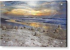 Sandcastle Sunrise Acrylic Print by Betsy Knapp