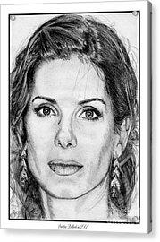 Sandra Bullock In 2005 Acrylic Print by J McCombie