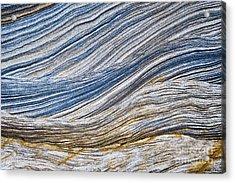 Sandstone Strata Acrylic Print by Tim Gainey