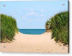Sandy Beach Acrylic Print by Heather Allen