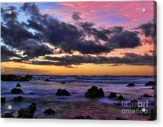 Sandy Beach South Shore Oahu Hawaii Acrylic Print by Leslie Kirk