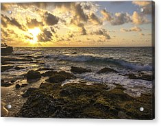 Sandy Beach Sunrise 11 - Oahu Hawaii Acrylic Print by Brian Harig