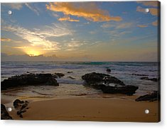 Sandy Beach Sunrise 3 - Oahu Hawaii Acrylic Print by Brian Harig