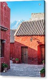Santa Catalina Monastery And Volcano Acrylic Print by Jess Kraft