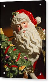 Santa Claus - Antique Ornament - 10 Acrylic Print by Jill Reger