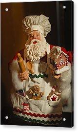 Santa Claus - Antique Ornament - 22 Acrylic Print by Jill Reger