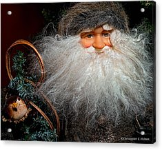 Santa Claus Acrylic Print by Christopher Holmes
