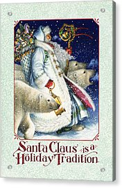 Santa Claus Is A Holiday Tradition Acrylic Print by Lynn Bywaters