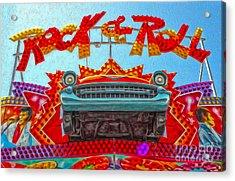 Santa Cruz Boardwalk - Rock And Roll Acrylic Print by Gregory Dyer