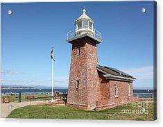 Santa Cruz Lighthouse Surfing Museum California 5d23936 Acrylic Print by Wingsdomain Art and Photography