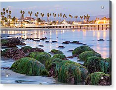 Santa Cruz Twilight Acrylic Print by Adam Pender