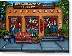 Santa Fe Restaurant Tyler Acrylic Print by Victoria De Almeida