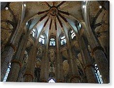 Santa Maria Del Mar Basilica I Acrylic Print by Kathy Schumann