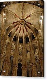 Santa Maria Del Mar Basilica Iv Acrylic Print by Kathy Schumann