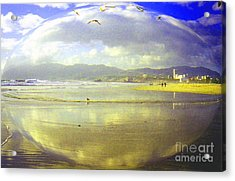 Santa Monica Beach Acrylic Print by Jerome Stumphauzer
