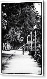 Santa Monica Jogging Acrylic Print by John Rizzuto