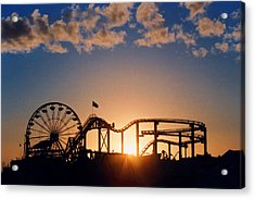 Santa Monica Pier Acrylic Print by Art Block Collections