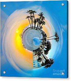 Santa Monica Pier Circagraph Acrylic Print by Az Jackson