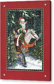 Santa Of The Northern Forest Acrylic Print by Lynn Bywaters