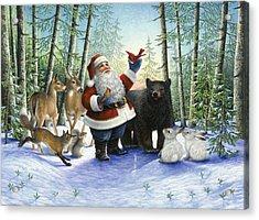 Santa's Christmas Morning Acrylic Print by Lynn Bywaters