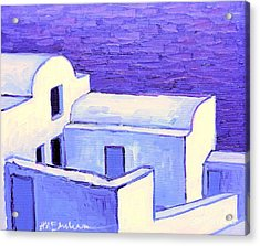Santorini Houses Acrylic Print by Ana Maria Edulescu
