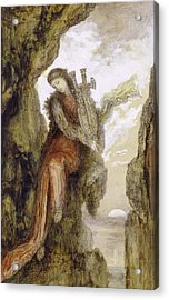 Sappho On The Cliff Acrylic Print by Gustave Moreau