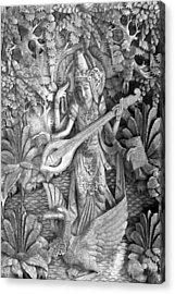 Saraswati - Supreme Goddess Acrylic Print by Karon Melillo DeVega