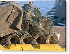 Sardinian Crab Traps Acrylic Print by Bill Mock