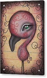 Sasha  Acrylic Print by  Abril Andrade Griffith