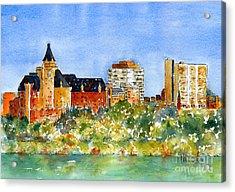 Saskatoon Panorama Acrylic Print by Pat Katz