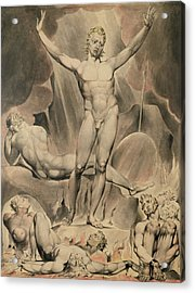 Satan Arousing The Rebel Angels, 1808 Acrylic Print by William Blake