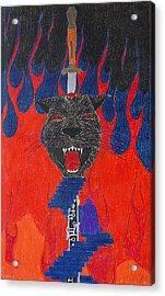 Satan's Panther Acrylic Print by Melanie Schneider