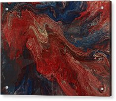 Gravitational Waves Of My Soul Acrylic Print by Jean-francois Suys