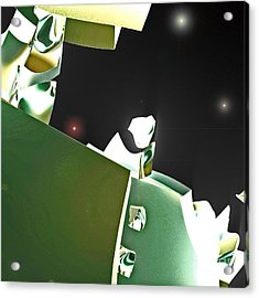 Satellite View Acrylic Print by First Star Art