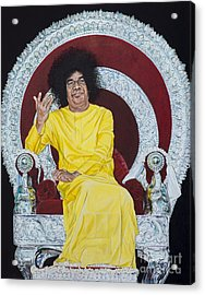Sathya Sai Baba  Acrylic Print by Tim Gainey