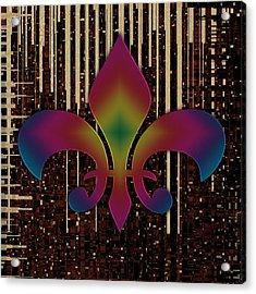 Satin Lily Symbol Digital Painting Acrylic Print by Georgeta Blanaru