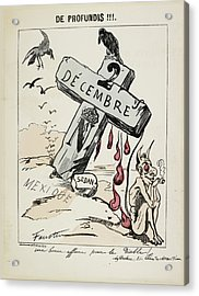 Satirical Caricature Acrylic Print by British Library