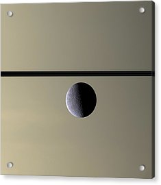 Saturn Rhea Contemporary Abstract Acrylic Print by Adam Romanowicz