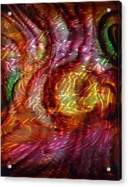 Saturn's Winds 2 Of 3 Acrylic Print by Luis  Navarro