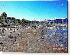 Sausalito Beach Sausalito California 5d22696 Artwork Acrylic Print by Wingsdomain Art and Photography