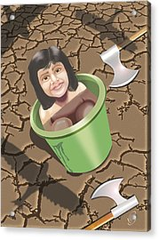 Save Trees Acrylic Print by Vijay Kumar