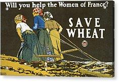 Save Wheat Acrylic Print by Edward Penfield