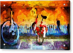 Saving The Bikes For The Summer Tnm Acrylic Print by Vincent DiNovici
