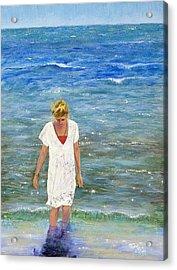 Savoring The Sea Acrylic Print by Margaret Bobb