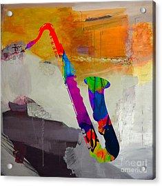 Sax Acrylic Print by Marvin Blaine