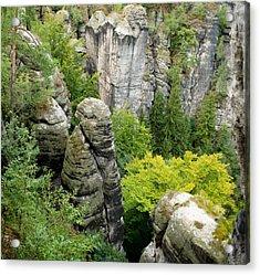 Saxon Switzerland Nature. Acrylic Print by Iryna Soltyska