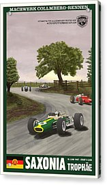 Saxony Germany Grand Prix 1967 Acrylic Print by Georgia Fowler